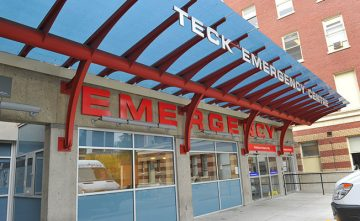 St. Paul's Hospital Emergency Department entrance