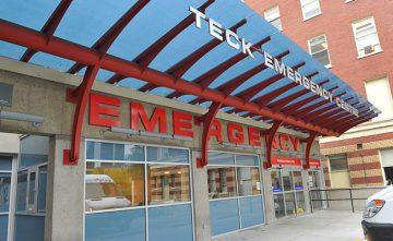 St. Paul's Hospital Emergency Department entrance